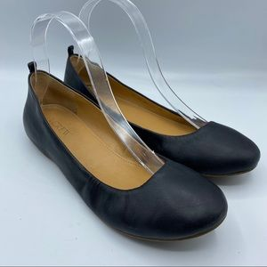 Jcrew Sz 7 Black Cece leather Flats